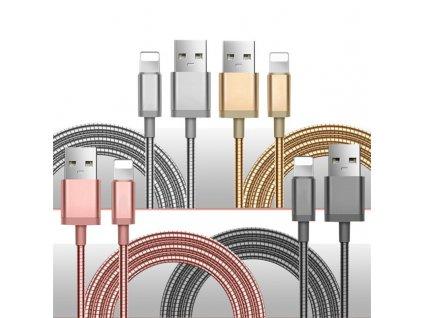 Metalic Alloy USB Lightning nabíjecí kabel na Apple iPhone (Velikost Silver)