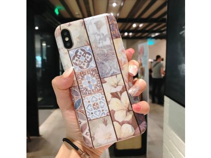 Kryt Retro Flowers na iPhone 6 / 6S