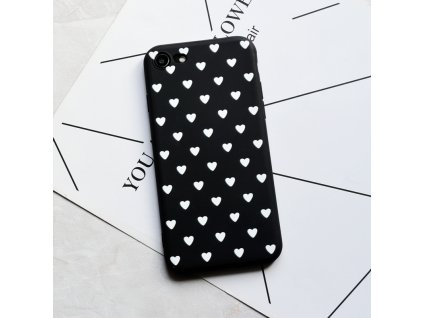 Kryt Little Heart Black-White na iPhone X
