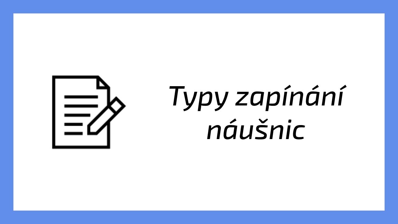 Typy zapínání náušnic