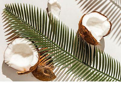 Kokos a broskev