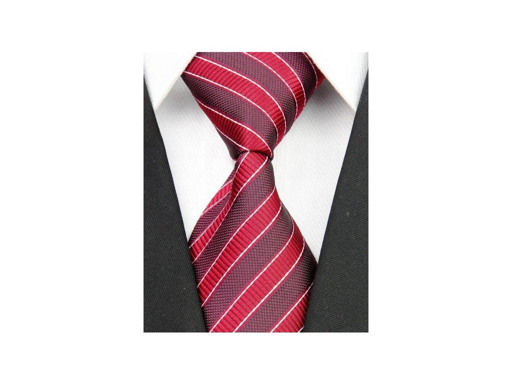 Hedvábná kravata červená NT0046
