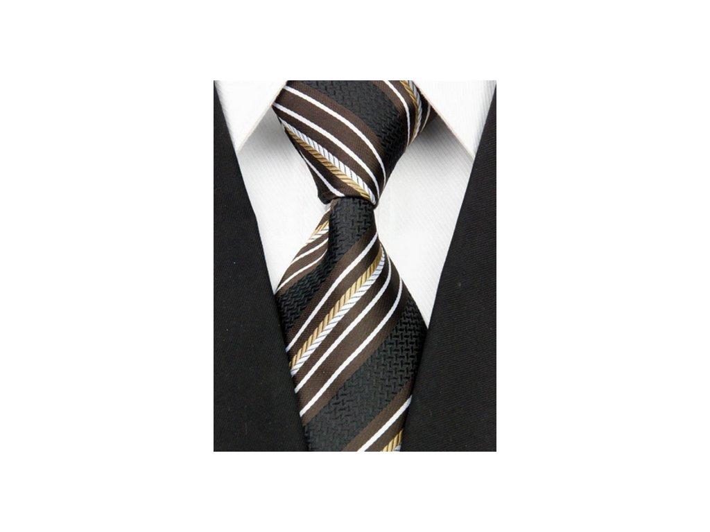 Hedvábná kravata černá NT0075