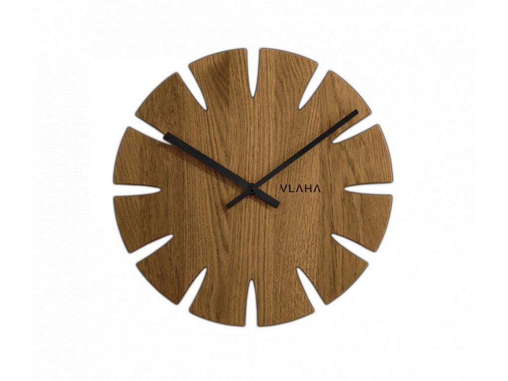 Dubové hodiny VLAHA s černými ručkami
