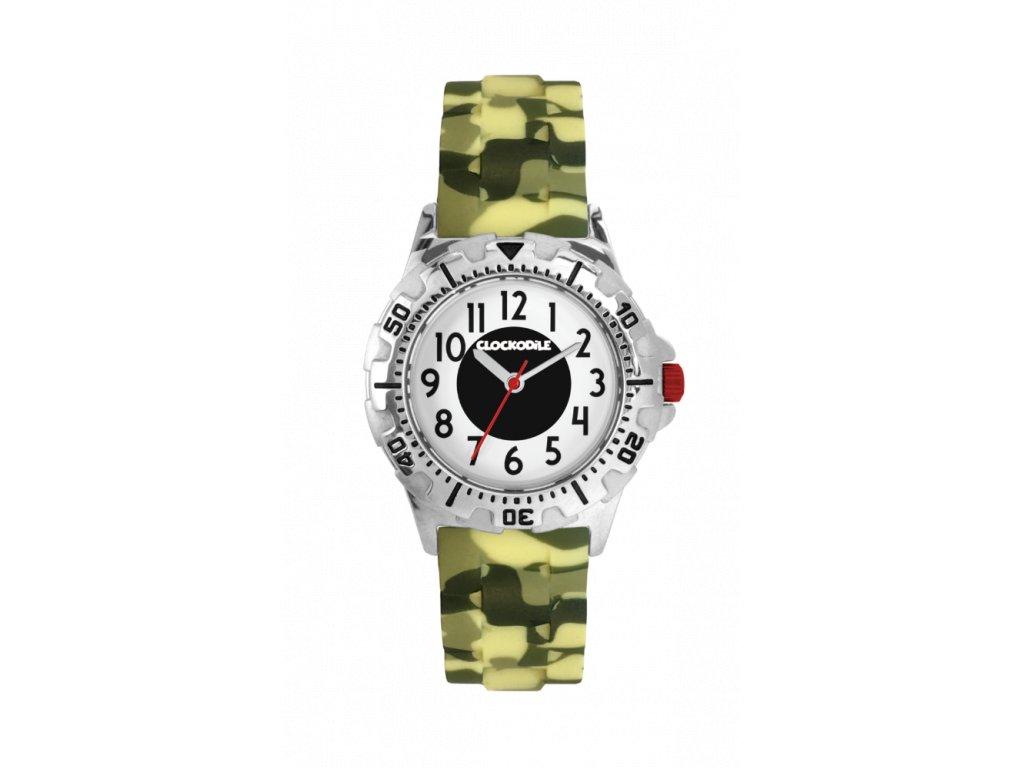 Svítící maskáčové sportovní chlapecké hodinky CLOCKODILE SPORT 3.0