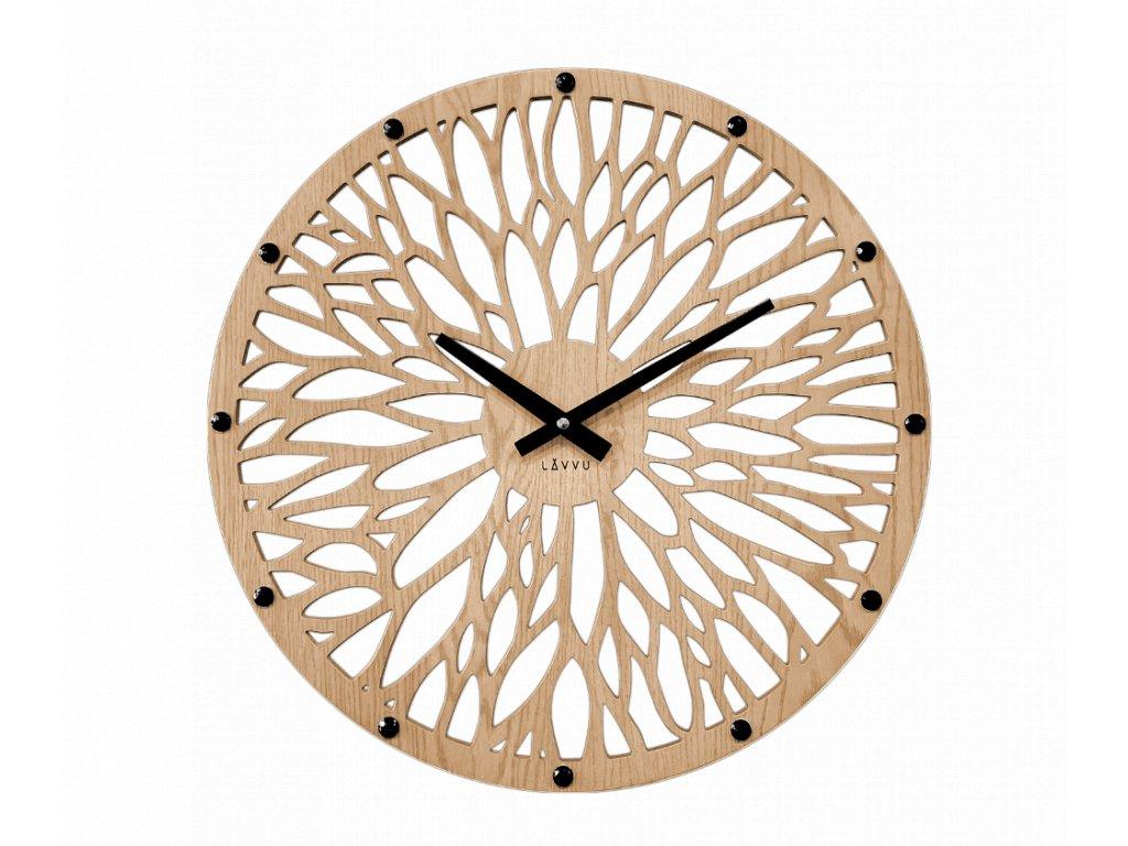 Impozantní světlé dřevěné hodiny LAVVU WOOD