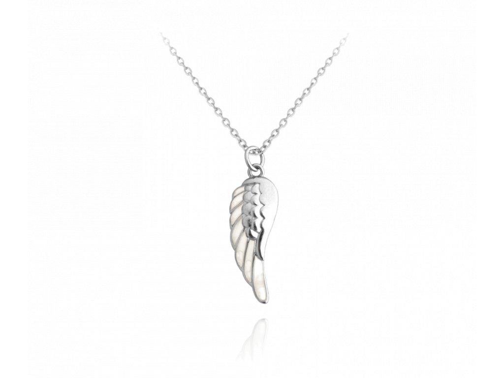 Stříbrný náhrdelník MINET ANDĚLSKÉ KŘÍDLO