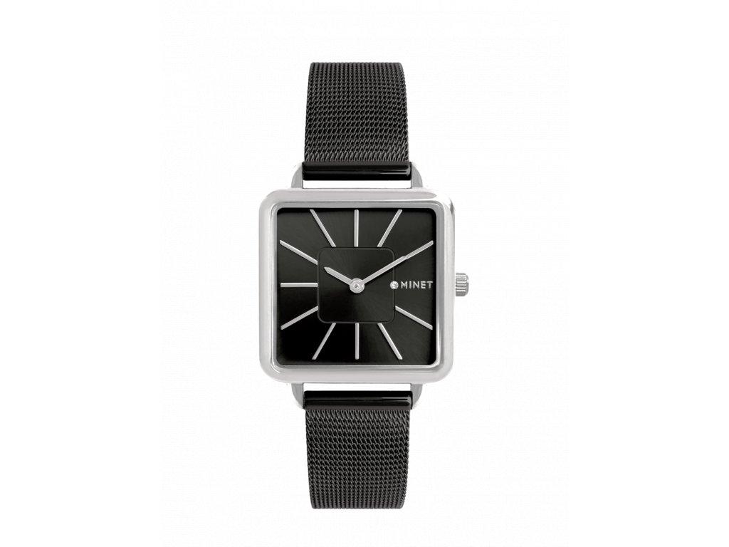 Černé dámské hodinky MINET OXFORD MIDNIGHT BLACK MESH