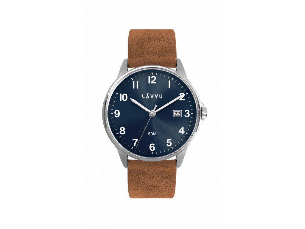 Hnědo-modré pánské hodinky LAVVU GÖTEBORG