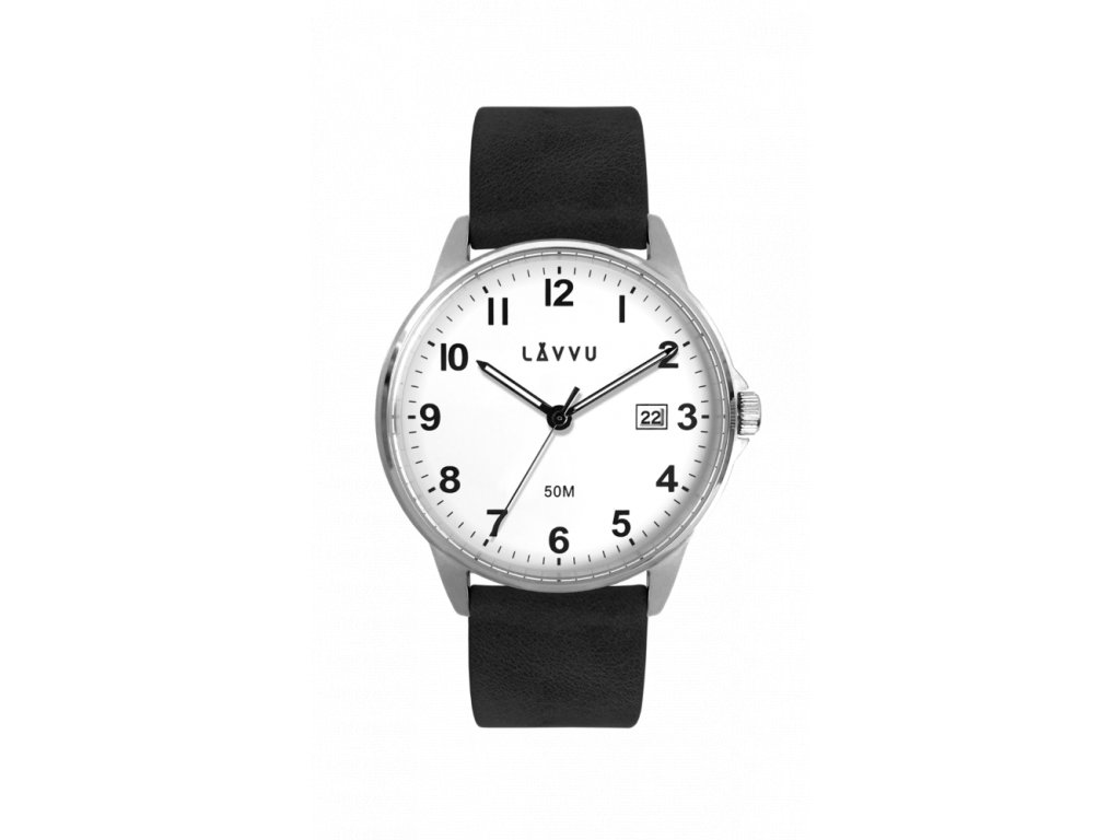 Černé pánské hodinky LAVVU GÖTEBORG