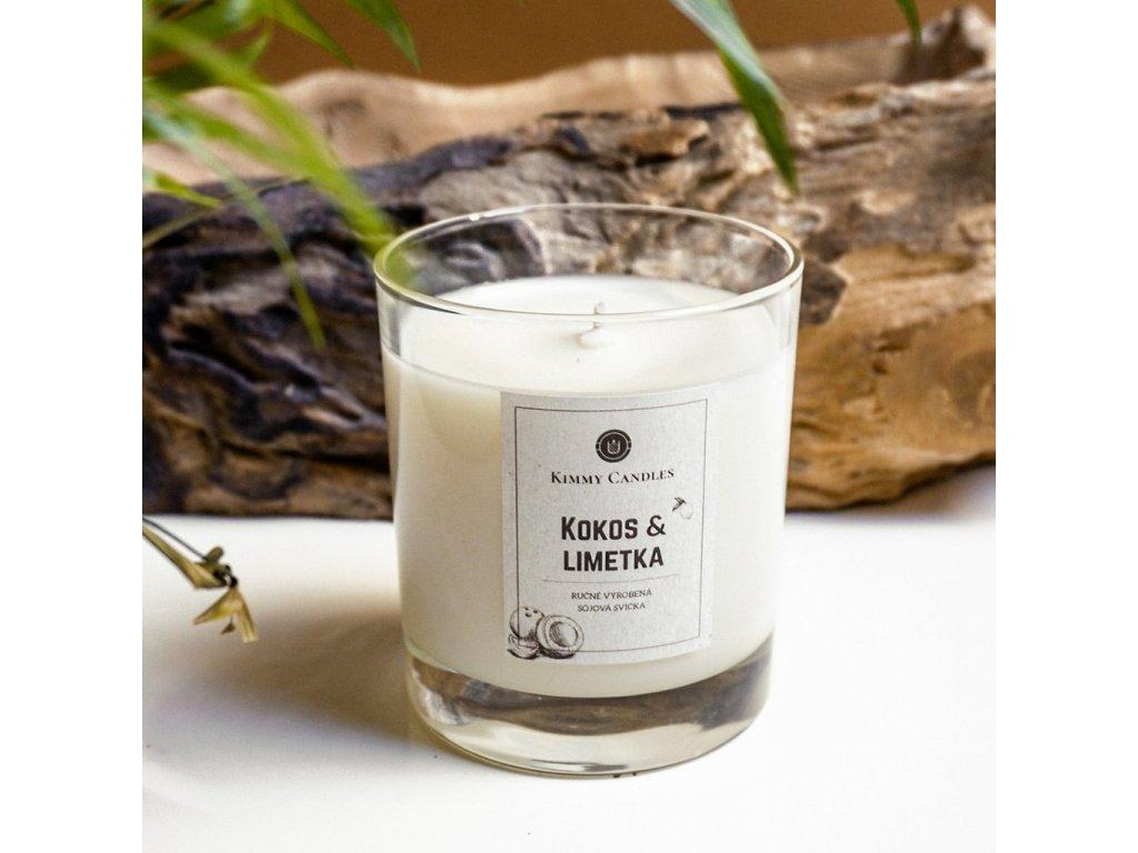 Sójová svíčka Kokos & Limetka