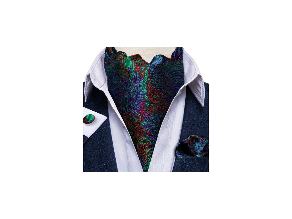 Hedvábný pánský askot vícebarevný ASC2012