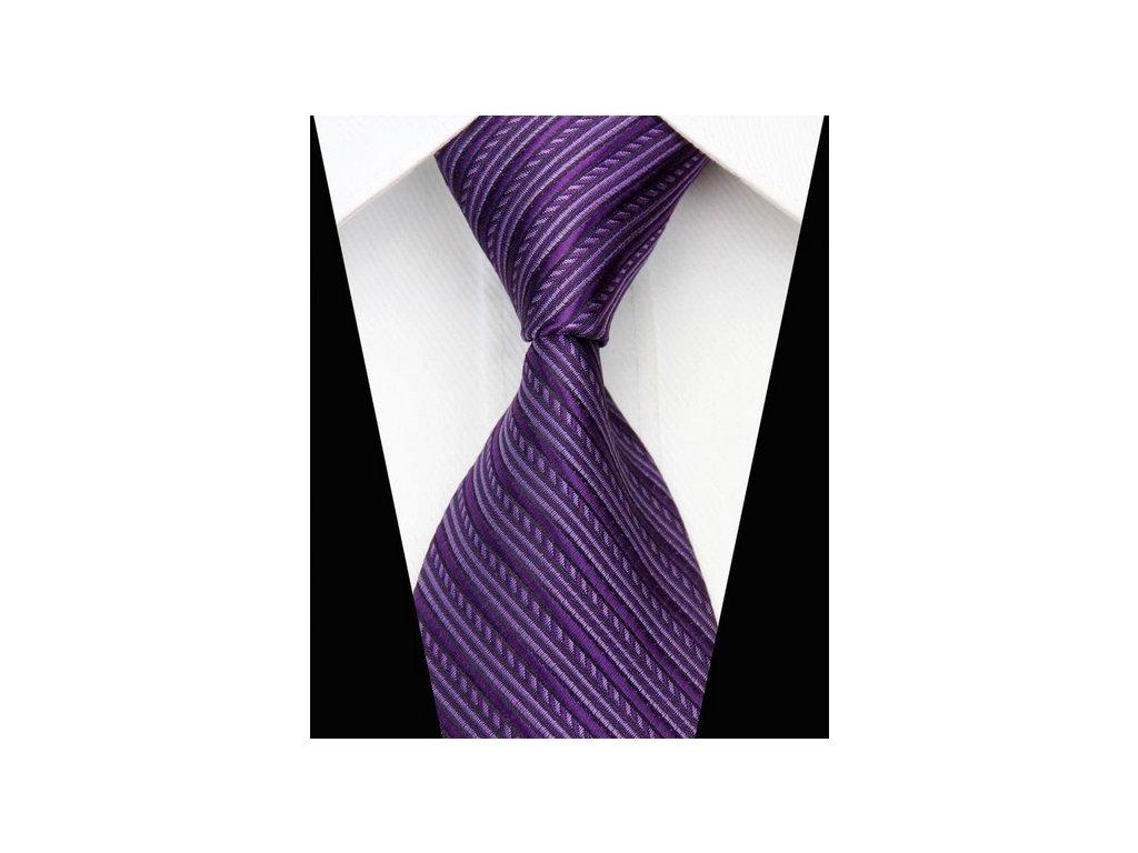 Hedvábná kravata fialová NT0542