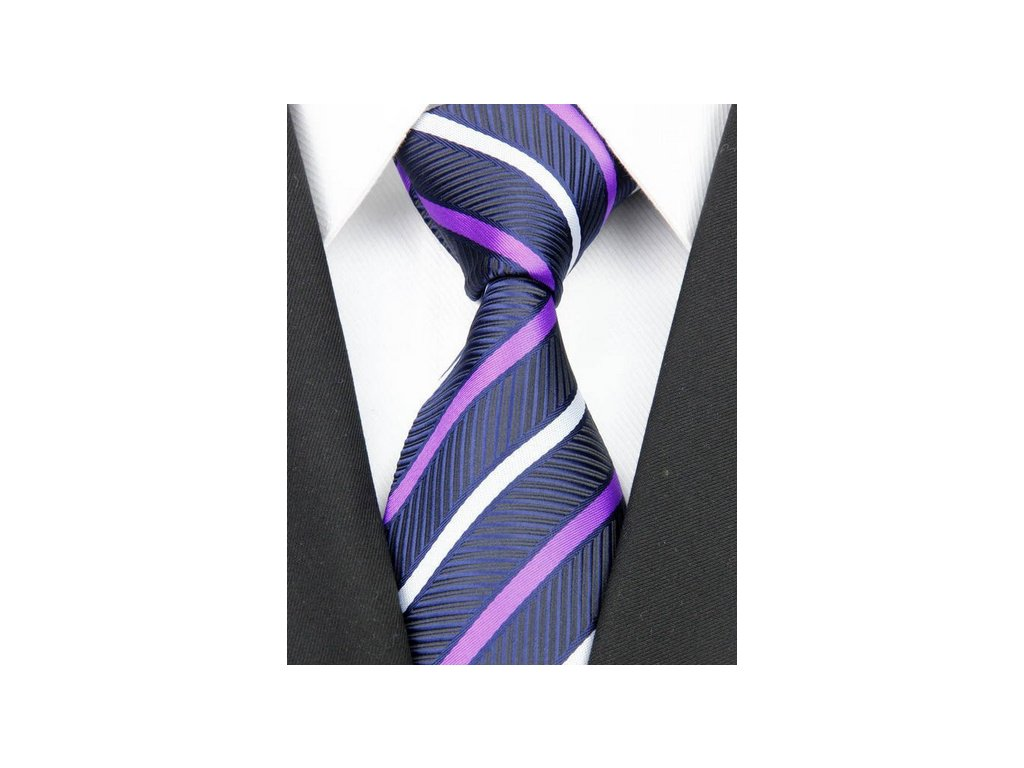 Hedvábná kravata tmavě modrá NT0135