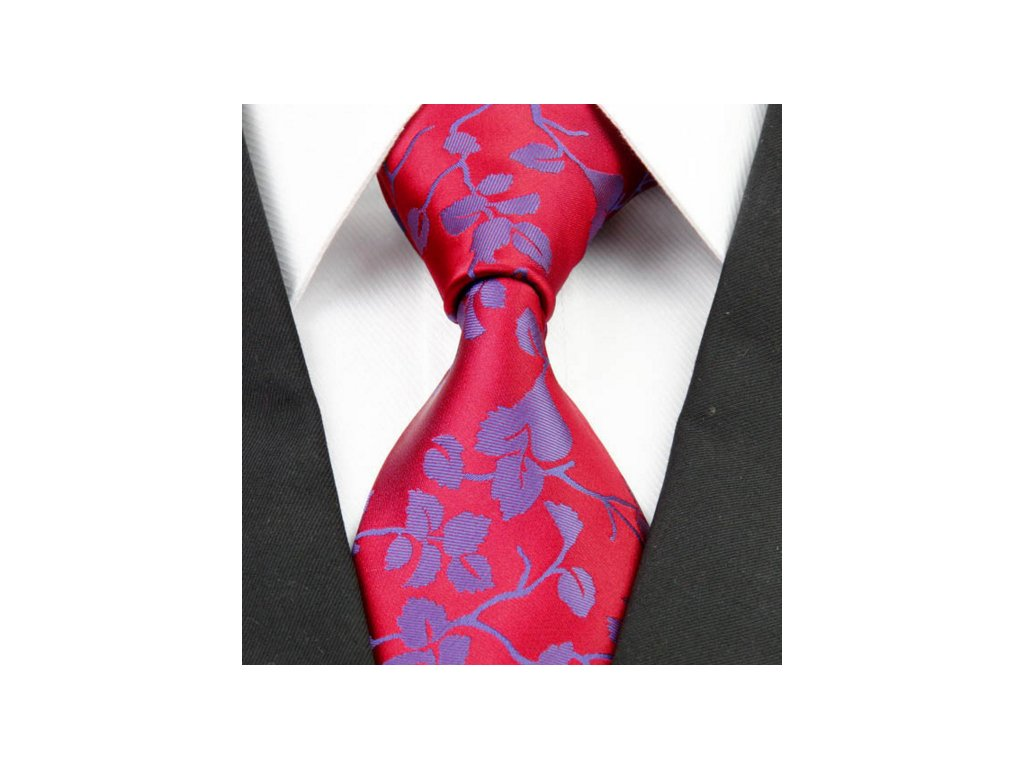 Hedvábná kravata červená NT0226