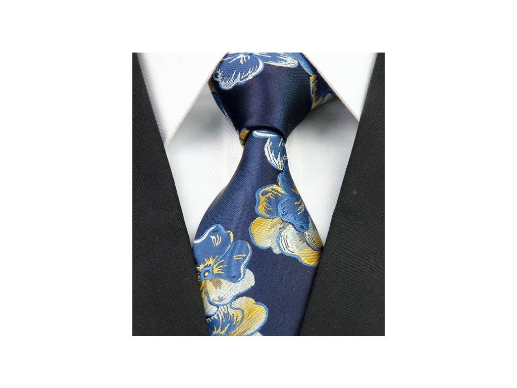Hedvábná kravata modrá NT0241