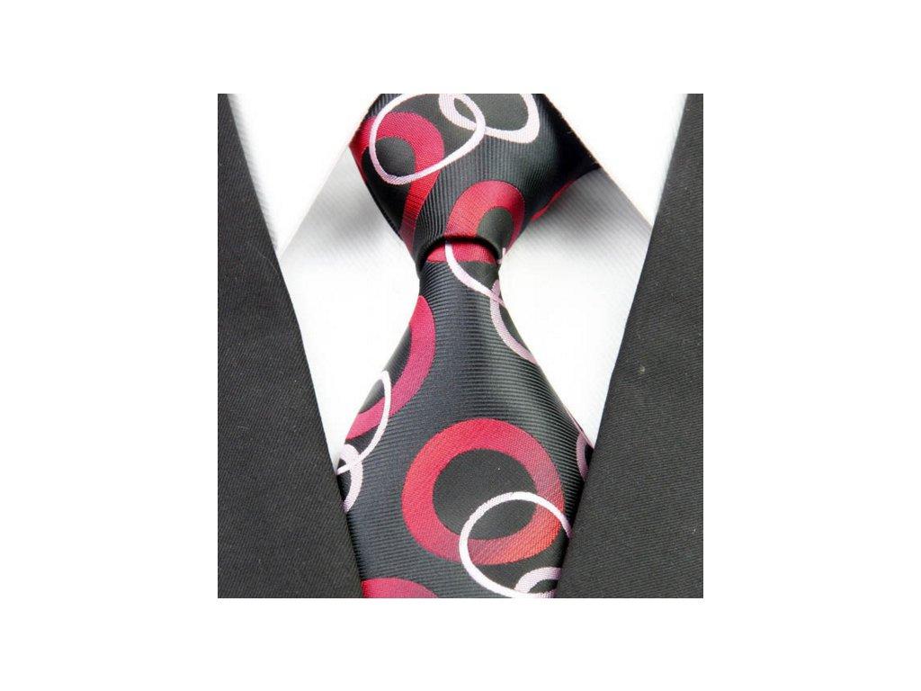 Hedvábná kravata černá NT0269