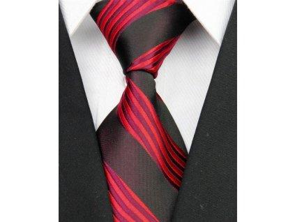 Hedvábná kravata černá NT0004