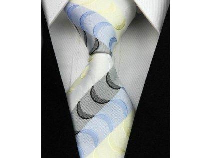 Hedvábná kravata vícebarevná NT0006