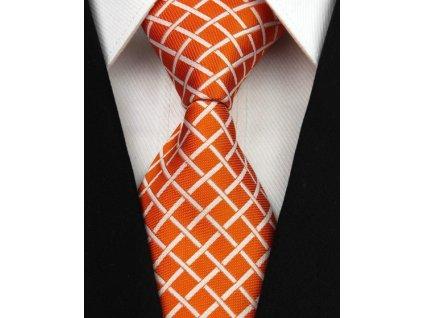 Hedvábná kravata oranžová NT0016
