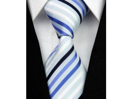 Hedvábná kravata modrá NT0035