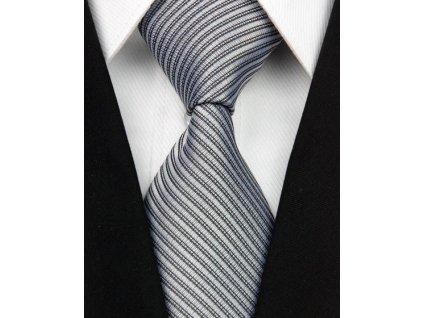 Hedvábná kravata šedá NT0042