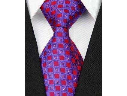Hedvábná kravata modrá NT0056