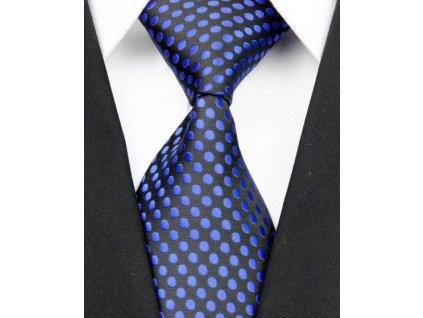 Hedvábná kravata černá NT0060