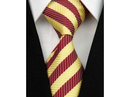 Hedvábná kravata zlatá NT0063