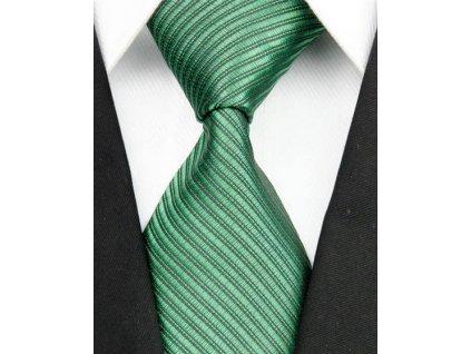 Hedvábná kravata zelená NT0097
