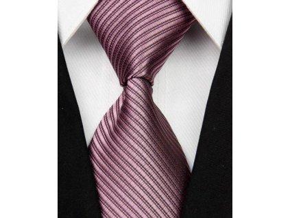 Hedvábná kravata růžová NT0100