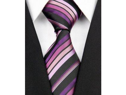 Hedvábná kravata fialová NT0181
