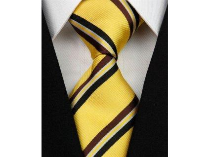 Hedvábná kravata žlutá NT0182