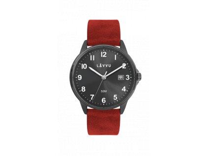 Červené pánské hodinky LAVVU GÖTEBORG