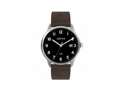 Tmavě hněadé pánské hodinky LAVVU GÖTEBORG