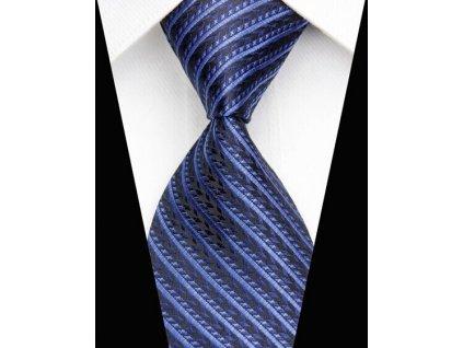Hedvábná kravata modrá NT0508