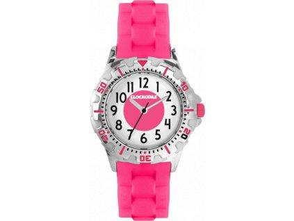 Svítící růžové sportovní dívčí hodinky CLOCKODILE SPORT 3.0