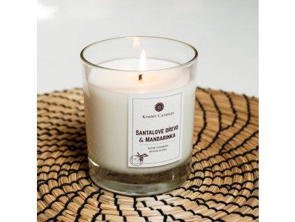 Sójová svíčka Santalové dřevo & Mandarinka