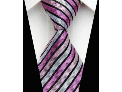 Hedvábná kravata růžová NT0533