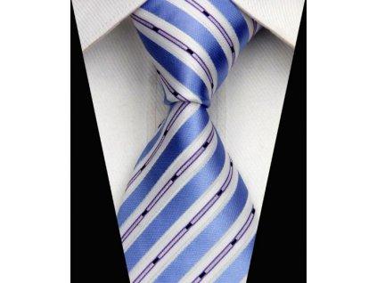 Hedvábná kravata modrá NT0548