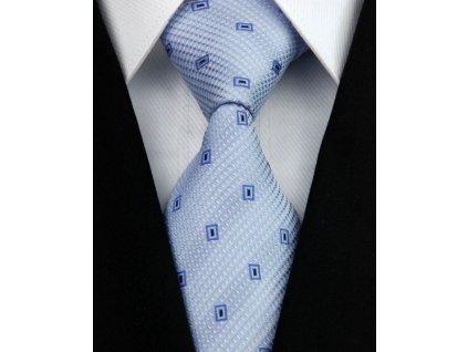 Hedvábná kravata modrá NT0127