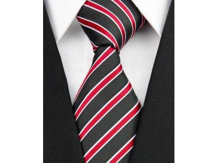 Hedvábná kravata černá NT0205