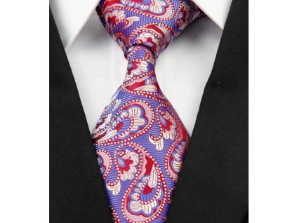 Kašmírová hedvábná kravata modrá NT0217