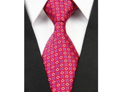 Hedvábná kravata červená NT0220