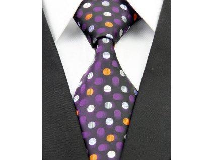 Hedvábná kravata černá NT0223