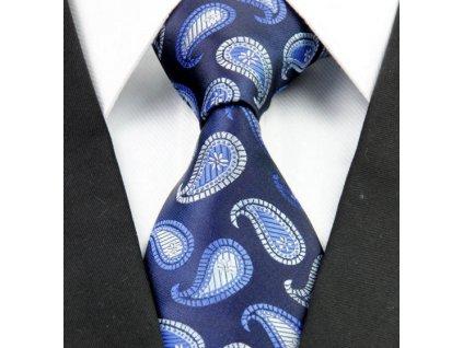 Hedvábná kravata modrá NT0259