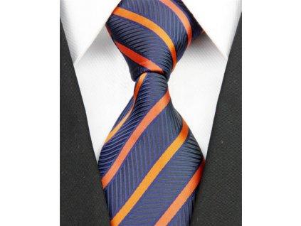 Hedvábná kravata modrá NT0209
