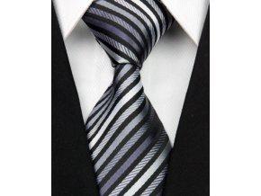 Hedvábná kravata černá NT0033