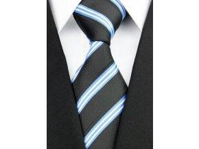 Hedvábná kravata černá NT0198
