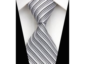 Hedvábná kravata bílá NT0517